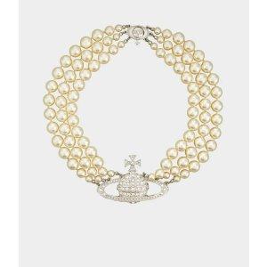 Vivienne Westwood断货王爆款3层珍珠项链