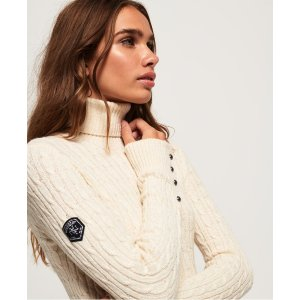 SuperdryCroyde Roll Neck Cable Knit Jumper