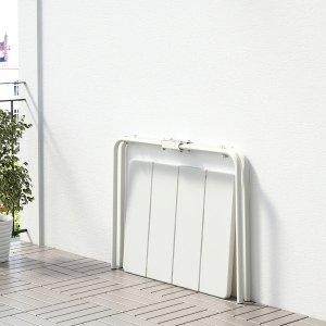 IkeaVADDO Table, outdoor, white, 22 7/8x29 1/8