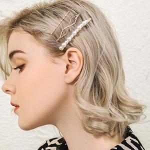 £5.99收巴洛克复古少女发夹马卡龙色珍珠发夹 巴洛克式复古风 夏日点睛必备