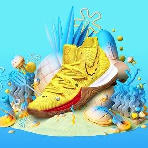 8月10日 5款同时开售凯里·欧文 x 海绵宝宝 合作款系列球鞋即将发售
