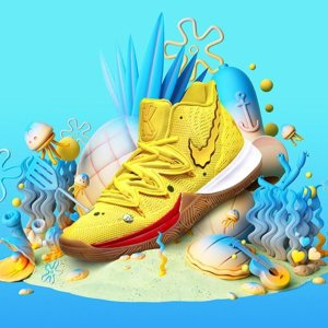 $110Kyrie Irving x SpongeBob SquarePants Basketball Shoes