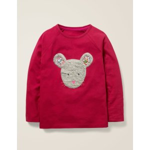 BodenAnimal Face T-Shirt - Bramble Red Mouse | Boden US