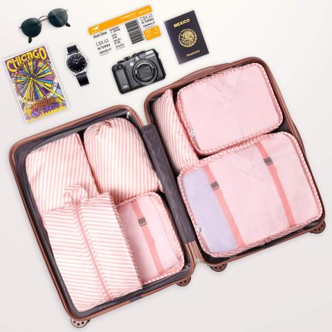 7折 封面款7件套仅$13Amazon 精选多款可折叠旅行袋及收纳袋热卖