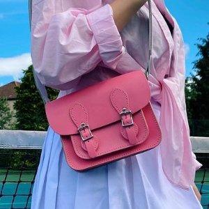 低至4.6折 €45收封面剑桥包Gweniss 英伦纯手工经典美包 时尚又复古 吸睛小粉红浪漫过节