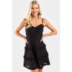 Francesca'sViviana Ruffle Tiered Lace Mini Dress