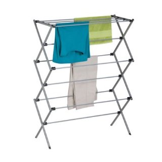 $9.88Mainstays Deluxe Folding Metal Accordion Drying Rack, Silver