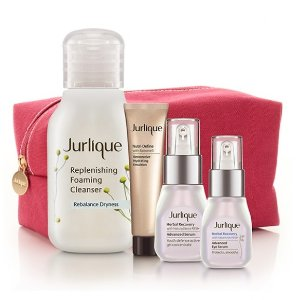 Free Mini Herbal Recovery Set + Summer Cleanser + Red Cosmetics Bag ($55 value)with $75 purchase @Jurlique