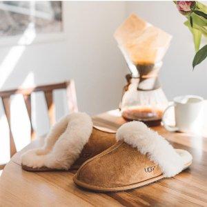 折扣区低至6折 $32收毛毛拖鞋UGG Australia官网折扣区上新 过冬必备