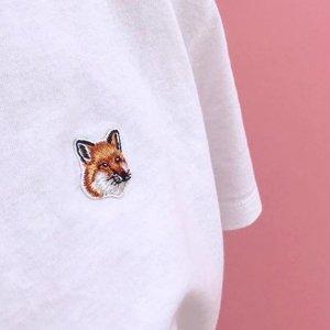 全场75折 €53收T恤Maison Kitsune 法式慵懒小狐狸 萌翻全场 收经典T恤、卫衣