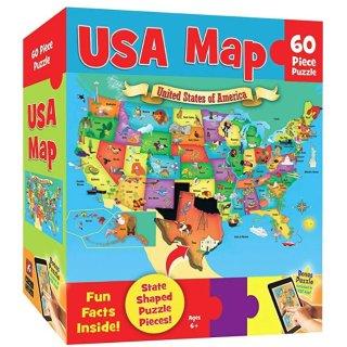 $4(原价$10)史低价:MasterPieces 儿童拼图,60大片美国地图