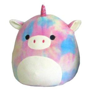 Squishmallow彩虹独角兽抱枕
