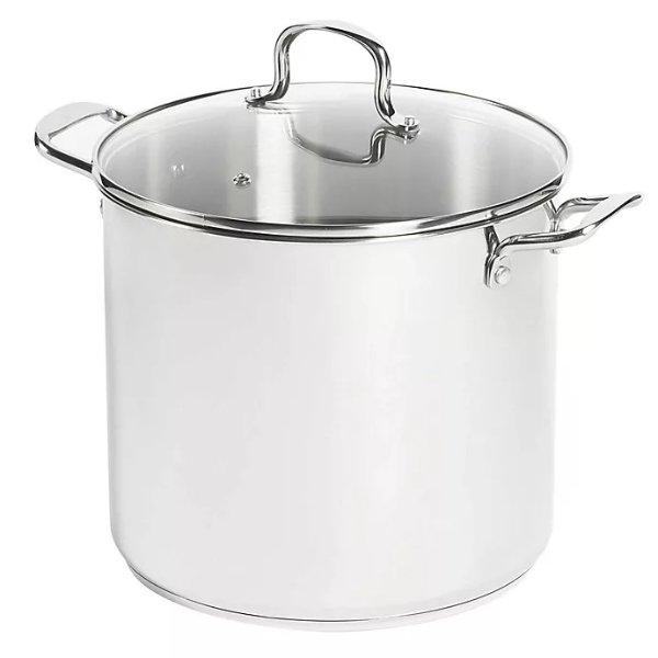 16 qt. 不锈钢带盖汤锅