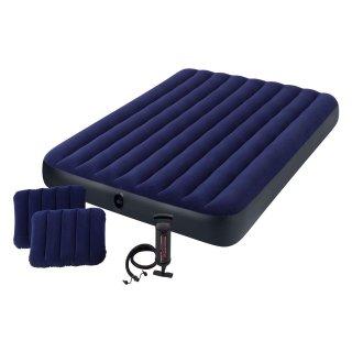 $16.63(原价$29.99)Intex 经典双枕头Queen气垫床,附送快速手动充气泵