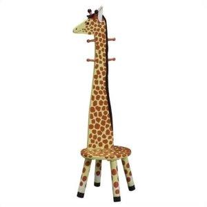 $38.99Teamson 长颈鹿造型儿童挂衣架+小板凳