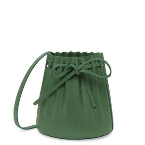 Mansur GavrielLambskin Mini Pleated Bucket Bag