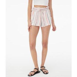 AeropostaleVertical Stripe High-Rise Soft Shorts