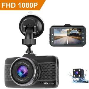 $54.99 (原价$129.99)Claoner FHD 1080P 170° 行车记录仪  行车必备
