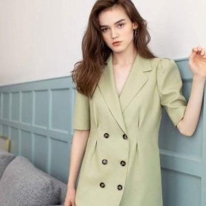 独家新款8.5折+折扣区可叠加低至3折上新:J.ING简约风专场 入封面新款抹茶绿复古西装裙