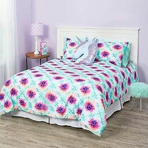 JusticeTie dye 7-piece bed in a bag queen size