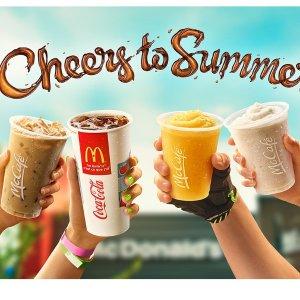 汽水/咖啡/冰沙/雪冰喝起来McDonald's麦当劳 夏日饮品$1活动回归