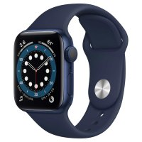Apple Watch Series 6 40mm GPS, 蓝色表壳配藏蓝色运动表带