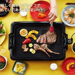 日亚销冠直邮含税到手价$300Tiger 虎牌 多功能电烤盘 烤肉章鱼烧大阪烧在家做 易收纳