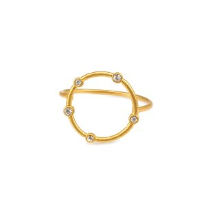 infinite love halo ring, gold plated