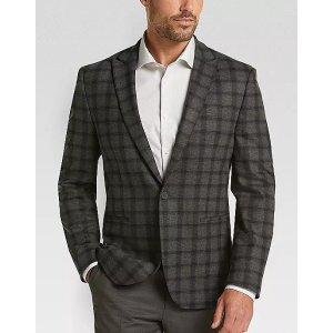 JOE Joseph Abboud Gray Plaid Slim Fit Casual Coat - Men's Sport Coats | Men's Wearhouse
