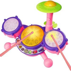 $12 VTech KidiBeats Drum Set - Pink