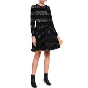MajeRelane flared crocheted mini dress