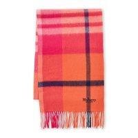 Mulberry Macaroon 粉色格纹羊毛围巾