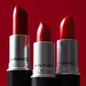8折MAC 精选美妆限时8折 收子弹头唇膏、定妆喷雾