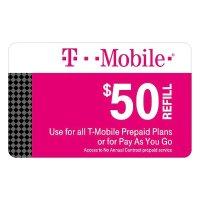 $50 T-Mobile 预付卡