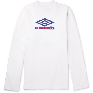 Vetements- + Umbro Oversized Printed Cotton-Jersey Sweatshirt