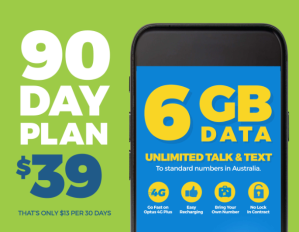 $39 送Catch官网$39代金券Catch Connect 90天电话卡套餐热卖