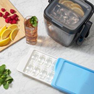 $9.79(原价$14.63)OXO 冰块制冰模具盒 2件套 夏天在家喝冰饮更方便