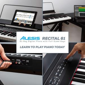 $199包邮(原价$249)Alesis Recital 61键半重锤电钢 气质养成系 免费送60+网课