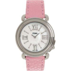 Fendi粉色皮带手表