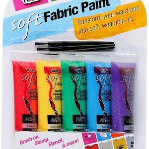 $10.65 (原价$21.26)Tulip 柔软面料涂料5件装 DIY你的个性装扮