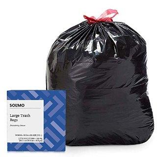 $4.94Solimo 30加仑多用途抽绳超大垃圾袋 50个