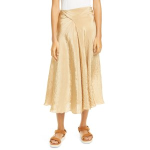 VinceTextured 丝质半身裙