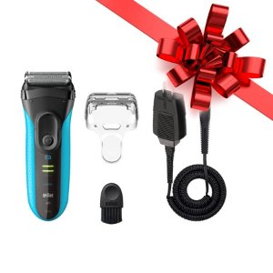 BraunSeries 3 ProSkin 3040s ($10 Rebate Available) Wet&Dry Electric Shaver for Men / Rechargeable Electric Razor, Blue