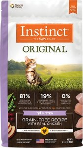 Instinct by Nature's Variety Original Kitten Grain-Free Recipe with Real Chicken Dry Cat Food, 4.5-lb bag - Chewy.com