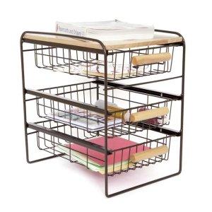 14.99Origami Kitchen Countertop 3-Drawer Wood Top Organizer