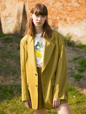 Wide Lapel Single Jacket Green | W Concept