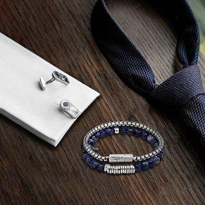 满£200享8.5折独家:Tateossian 送男生礼物最佳pick 收精致手链、袖扣