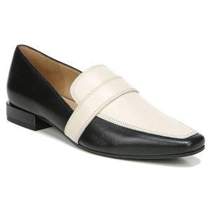 Naturalizer.com |Cicero in Black/Porcelain Leather Flats