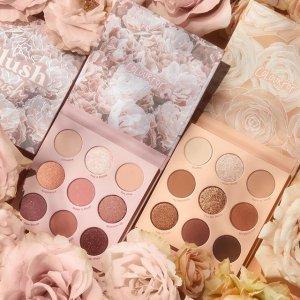 无门槛9折$12.6收眼盘上新:Colourpop 裸色玫瑰系彩妆 眼影盘、大理石纹高光爆美