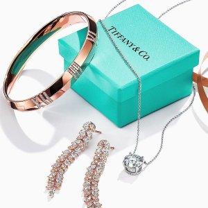 低至6折+最高减$100 收钻石钥匙吊坠Tiffany&co 新年好礼 收T系列首饰、蓝宝石钻石花